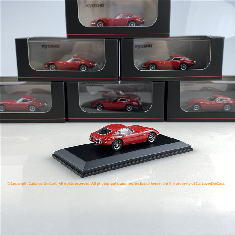 Kyosho 1:64 Toyota 2000GT (White/Red) 06502W/R diecast car model available now