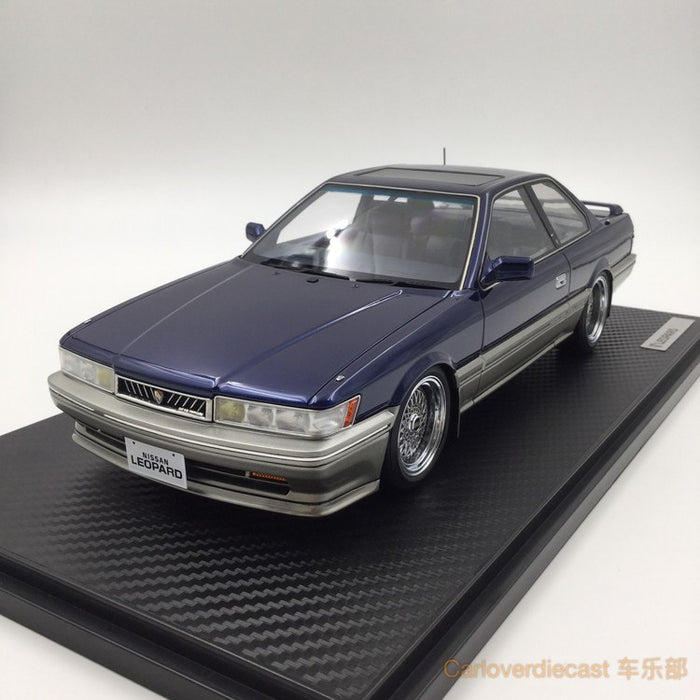 Ignition model - Nissan Leopard 3.0 Ultima (F31) Blue (BB-Wheel) Resin Scale 1:18 Available now (IG1014)