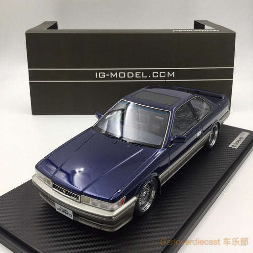 Ignition model - Nissan Leopard 3.0 Ultima (F31) Blue (BB-Wheel) Resin Scale 1:18 Available now (IG1014) free display cover