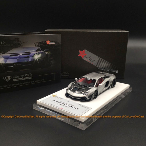 Fuelme 1:43 LB Works Aventador 50th Limited edition (Flat Silver) resin car model (FM43008-50LE-JN22) available  now