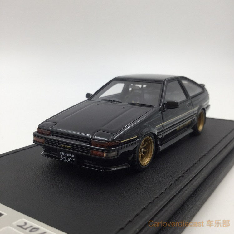 Ignition Model Toyota Sprinter Trueno (AE86) 3Door GT Apex Black Edition (W-Wheel) resin scale 1:43  (IG1190) available now