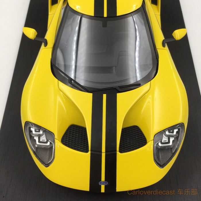 (TopSpeed) Ford GT 2015 LA Auto Show -Triple Yellow Scale 1/18 Resin Model (TS0029)