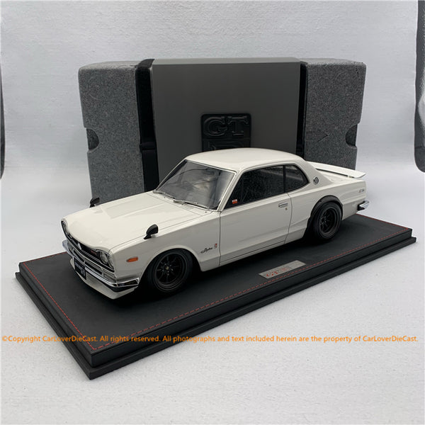 ignition model 1:12 Nissan Skyline 2000 GT-R (KPGC10) White IG Web exclusive edition  IG1936