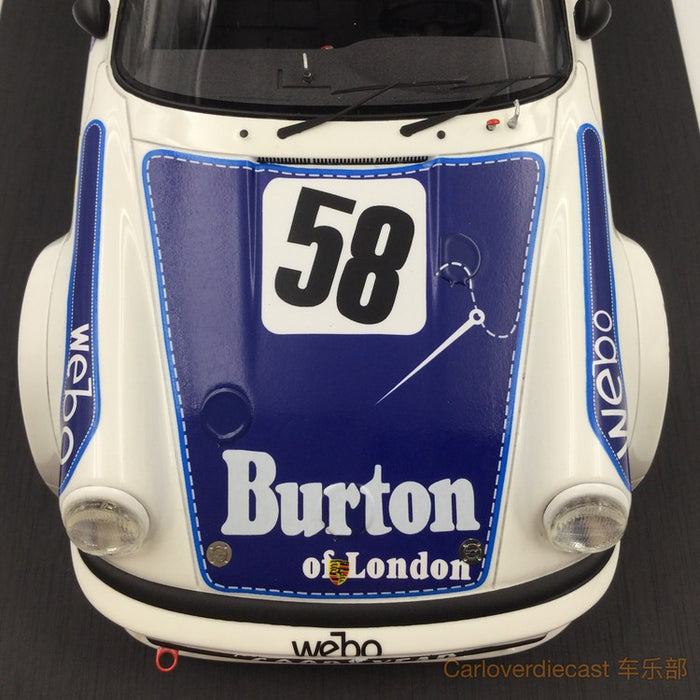 TopSpeed - Porsche 934 #58 1977 Le mans resin scale 1:18  limited 999pcs TS0057 FREE Display Cover !