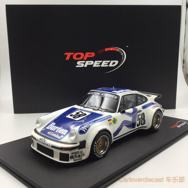 TopSpeed - Porsche 934 #58 1977 Le mans resin scale 1:18  limited 999pcs TS0057