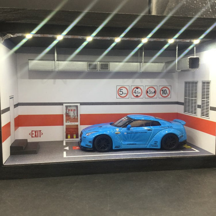 CLDC 1:64 Carpark Diorama with LED light (64carpark)