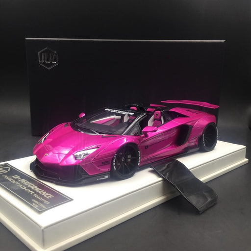 JUC 1:18 LB works Aventador Roadster (Flash Pink) Leather like based resin car model (J36-L-01) limited 20 units available now