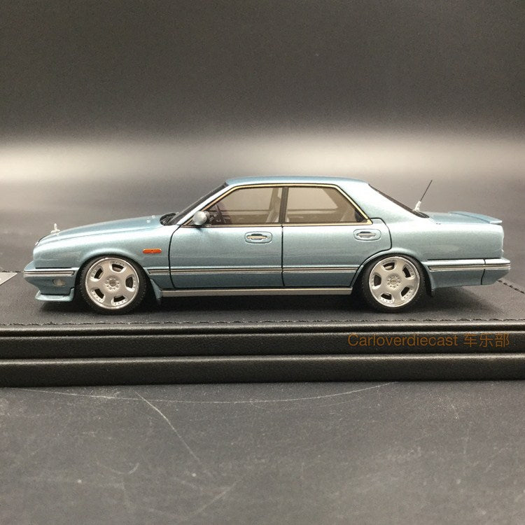 Ignition Model Nissan Gloria Cima (Y31) Light Blue Resin Scale 1/43 Model (IG1086)