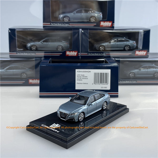 Hobby Japan 1/64 Toyota CROWN 2.5L RS advance HYBRID Gray Metallic(HJ641009HGM) diecast car model available now