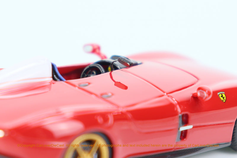 SP Model 1:64 Monza SP1 Transparent Red  Limited 299 pcs (SP64001R) Resin car model available on MAY 2021 pre-order now