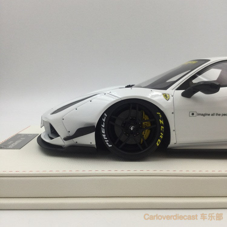 Kingston - Liberty Walks 488 Resin Scale 1:18 white  available now
