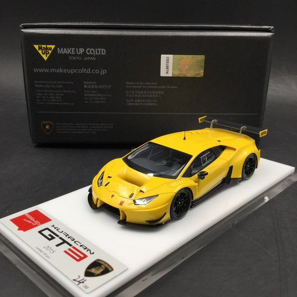 Makeup 1:43 Lamborghini Huracan GT3 2015 resin car model (Pearl Yellow) EM339D