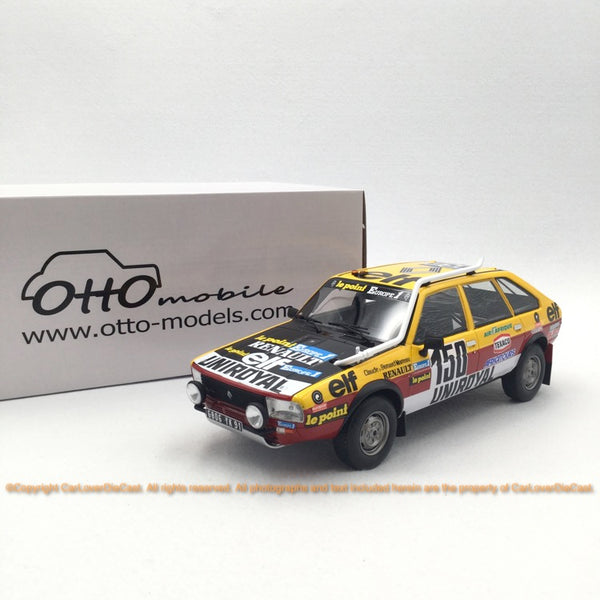 OttO Mobile 1:18 Renault 20 Turbo 4x4 - Modèle de voiture en résine Paris-Dakar 1982 (OT821) Limited 2000 pcs disponible maintenant