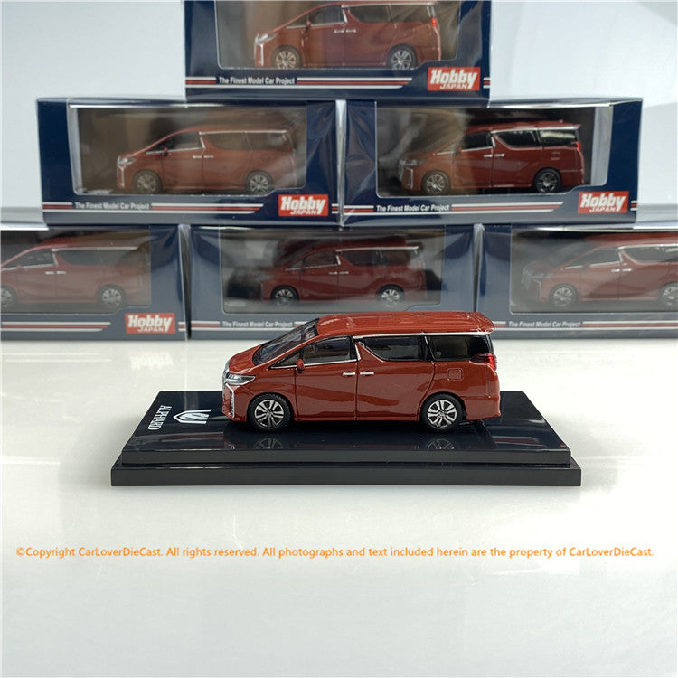 Hobby Japan 1/64 Toyota ALPHARD (H30W) AERO TYPE Dark Red Metallic (HJ641012R) diecast car model available now