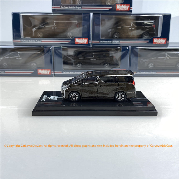 Hobby Japan 1/64 Toyota ALPHARD (H30W) AERO TYPE Gray Metallic (HJ641012GM) diecast car model available now