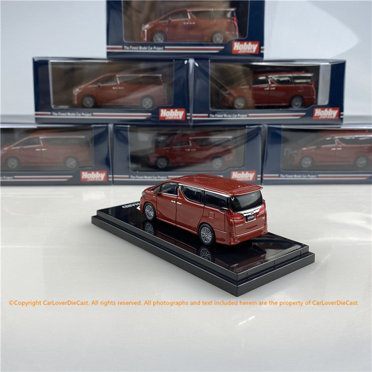 Hobby Japan 1/64 Toyota ALPHARD HYBRID (H30W) AERO TYPE Dark Red Metallic (HJ641012HR) diecast car model available now