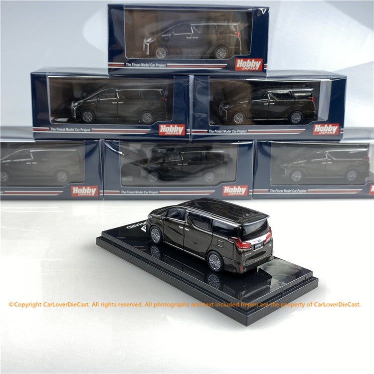 Hobby Japan 1/64 Toyota ALPHARD HYBRID (H30W) AERO TYPE Gray Metallic (HJ641012HGM) diecast car model available now