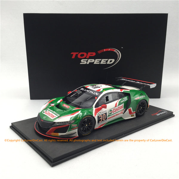 Topspeed 1:18  Honda NSX GT3 #30  2018 24Hr of Spa  Castrol Hong Racing(TS0269) available now