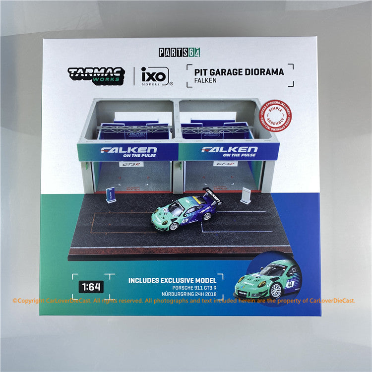 Tarmac Works 1:64 Pit Garage Diorama - FALKEN  *** Include exclusive model (