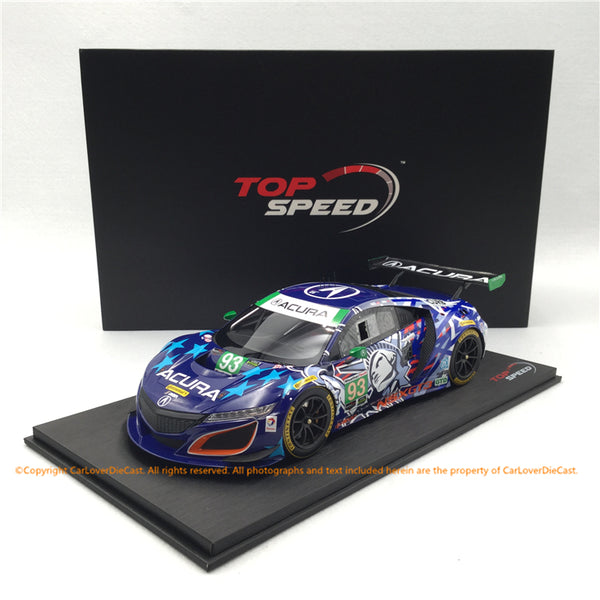 "Topspeed 1:18  Acura NSX GT3 #93  Michael Shank Racing ""Statue of Liberty"" 2017 IMSA Championship - Watkins Glen (TS0271) available now"