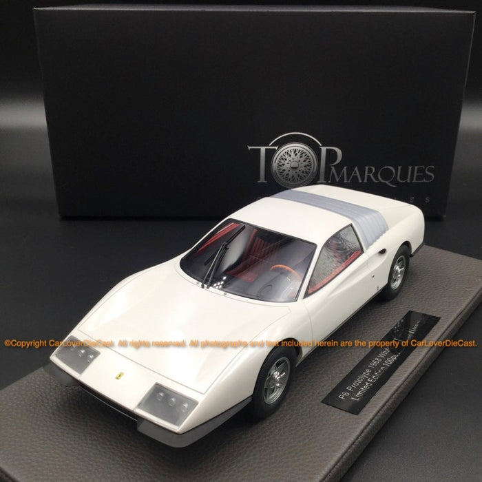 Top Marques  1:18   P6 Prototype (White) resin car model (TOP094C)