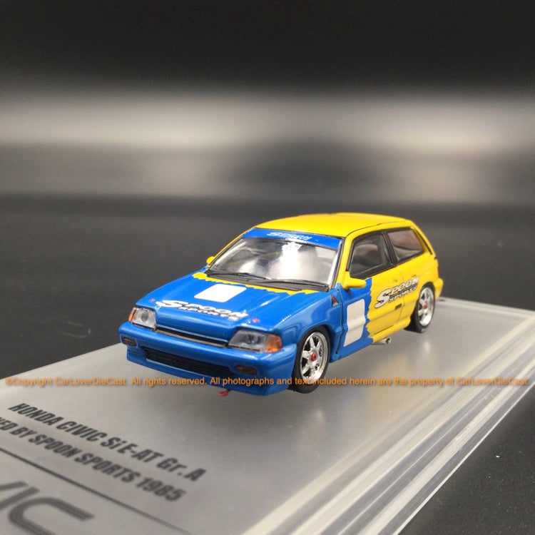INNO64 1:64 HONDA CIVIC Si E-AT Gr.A Tuned by SPOON SPORT 1985 (IN64-EAT-SP85) Diecast model