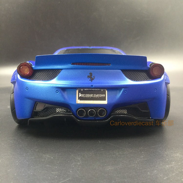 (AGU Model) 458 LB works West coast  resin scale 1:18 limited 999 pcs (Blue with Tinned Windows with Blue Wheels) available now AGU-007CR