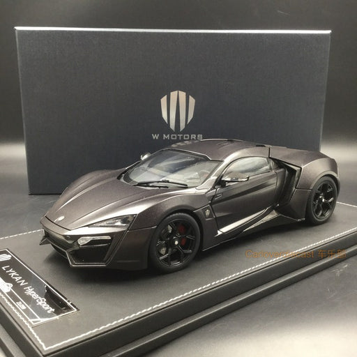 Kengfai model - W. motor Lykan Hypersport (Dull Gray) diecast scale 1:18 full open with display case and base, coming  on June Pre-order now (KF00105)