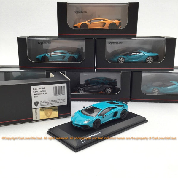 Kyosho  1:64 Lamborghini LP700-4 SV (Blue) 07065A1-J Diecast car model available now