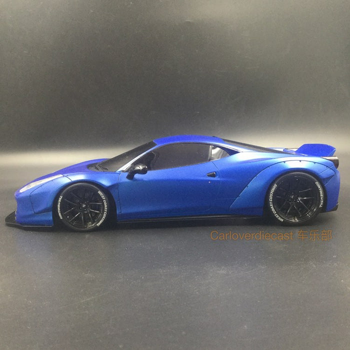 (AGU Model) 458 LB works West coast  resin scale 1:18 limited 999 pcs (Blue with Tinned Windows with Black Wheels) available now AGU-006CR