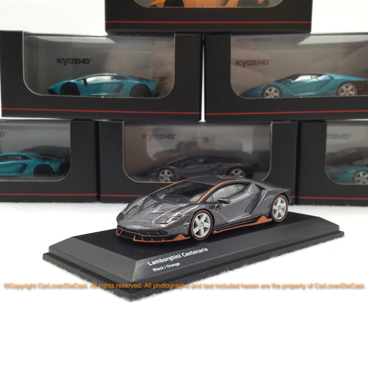 Kyosho  1:64 Lamborghini Centnario (Black / Orange ) 07065A3-J Diecast car model available Now