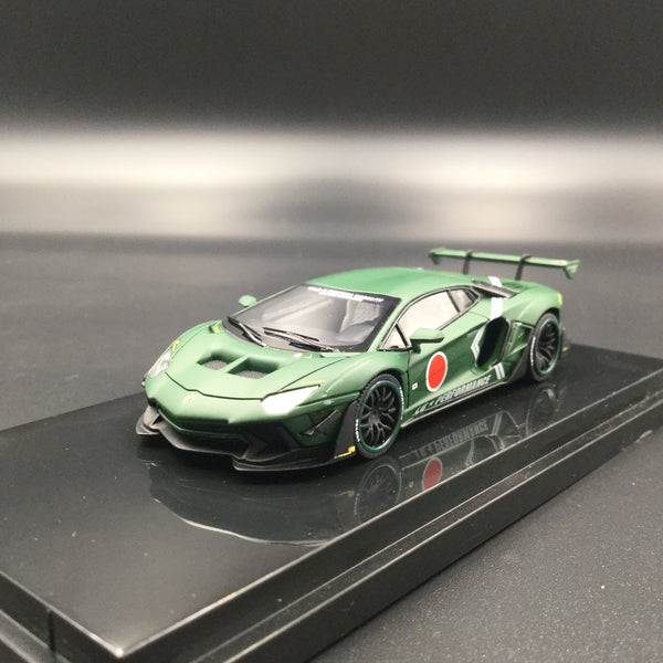JEC 1:64 Liberty Walk Aventador 2.0 Mat Green Zero Fighter (resin) car model  (J64-001-S-ZG) ready stock