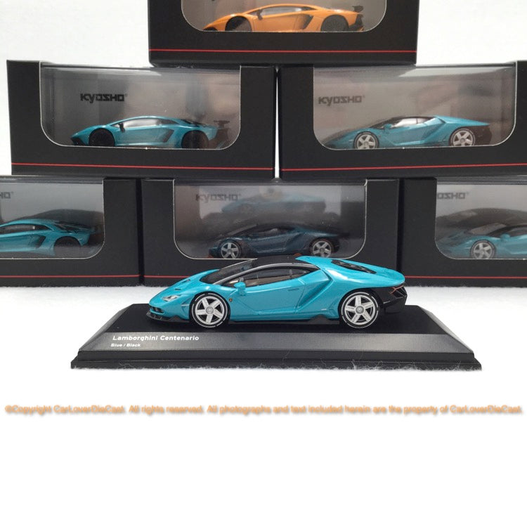 Kyosho  1:64 Lamborghini Centnario (Blue / Black  ) 07065A4-J Diecast car model available now