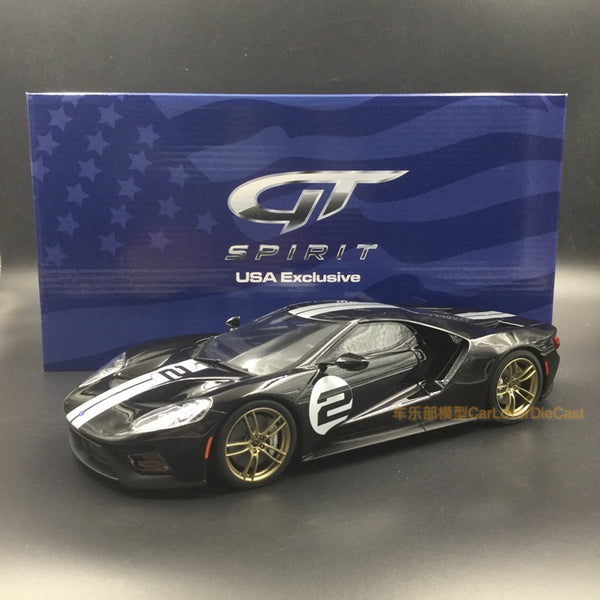 (GT Spirit) Ford GT # 2 Heritage Edition Resin Maßstab 1:18 American Exclusive Edition (US001) limitiert 1000 Stück