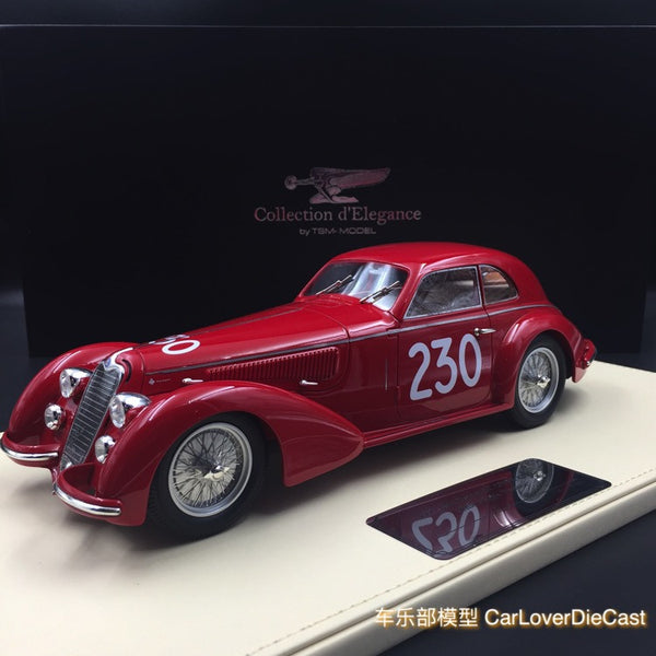 TSM - Collection d'Elegance Alfa Romeo 1947 8C 2900B #230 Mille Miglia Winner Resin Scale 1:18 (TSMCE161802)