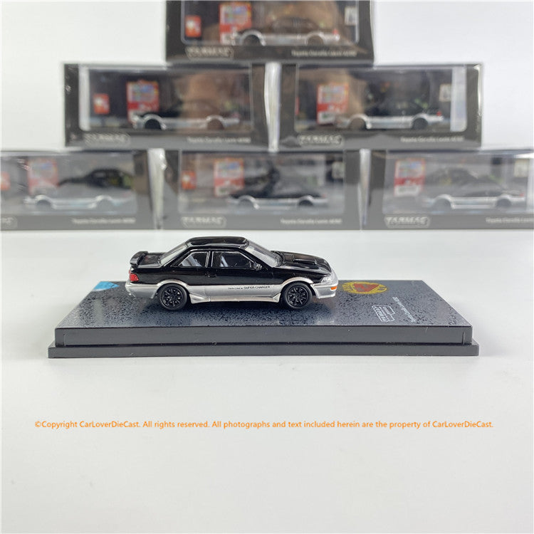 Tarmac Works 1:64 Toyota Corolla Levin AE92 Black / Grey  (T64R-036-BLK) diecast car model available now