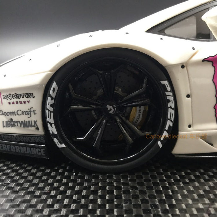 Super A 1:18 LB works Aventador (Monster White) resin model (A10) Limited 20 pcs available  now
