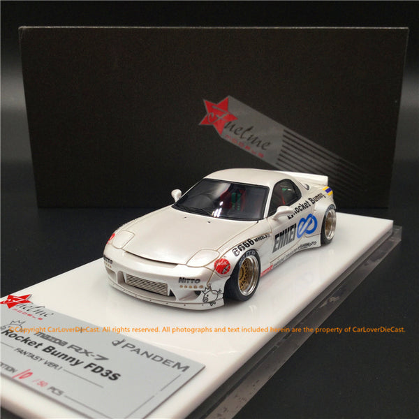 Fuelme 1:43 Rocket Bunny RX-7 FD3S Resin Model (FM43008LM-B) Pearl White available now