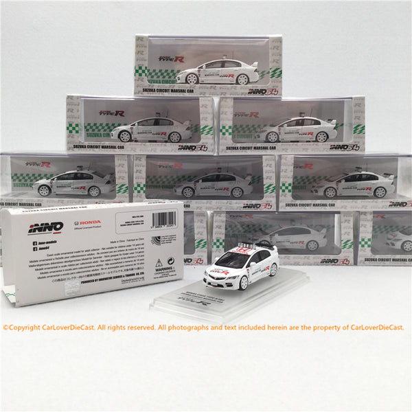 Inno 1:64 HONDA CIVIC Type-R FD2 Suzuka Circuit Marshal Car (IN64-FD2-SMC) disponible dès maintenant