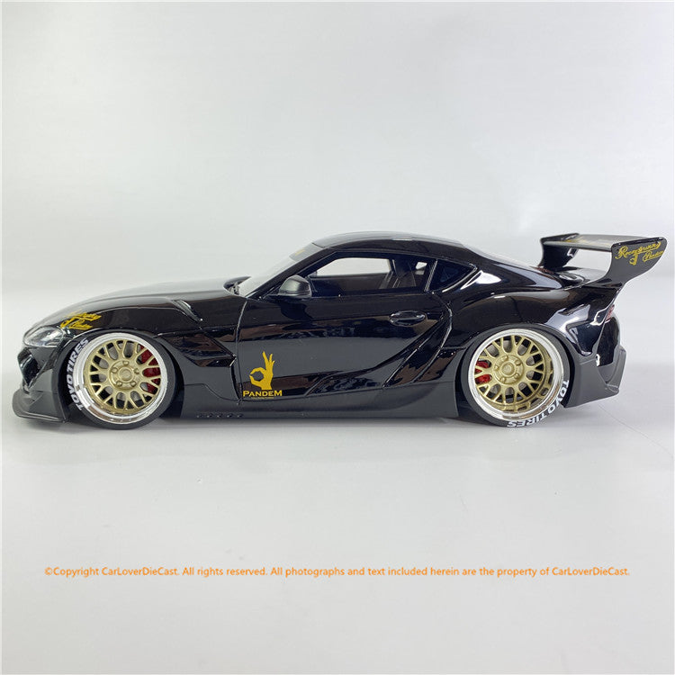 Topspeed 1:18 Pandem Toyota GR Supra V1.0  Black  (TS0307) resin car model