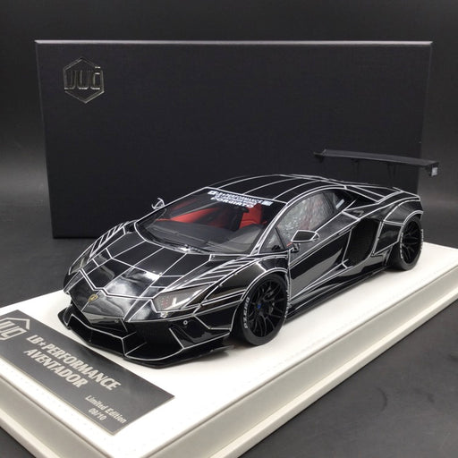 JUC 1:18 LB Works Aventador (Tron Black) with Leather like  based 10 pcs available now (J32-14)