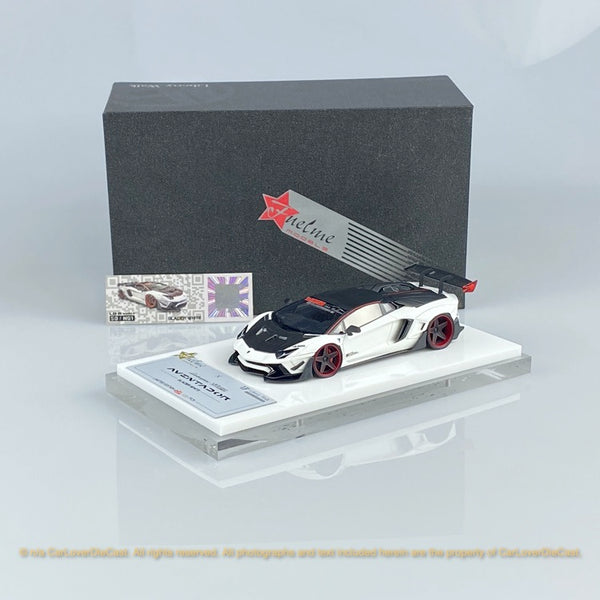 Fuelme 1:43 LB Works Aventador Roadster 50th Limited edition (Glacier White) Resin Car model (FM43007lm-50LE-WN01) available now