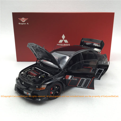 Super A 1:18 Mitsubishi Lancer EVO IX Ralliart diecast Full Open (Black)