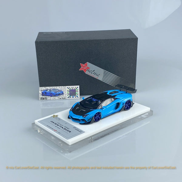 Fuelme 1:43 LB Works Aventador Roadster 50th Limited edition (Sky Blue) Resin Car model (FM43007LM-50LE-jn28) available now