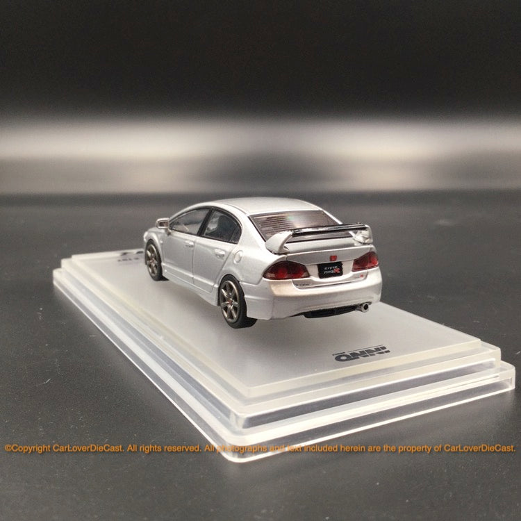 INNO64 1:64 HONDA Civic Type-R FD2 2007 Silver with sticker and spare wheels (IN64-FD2-SIL) Diecast model