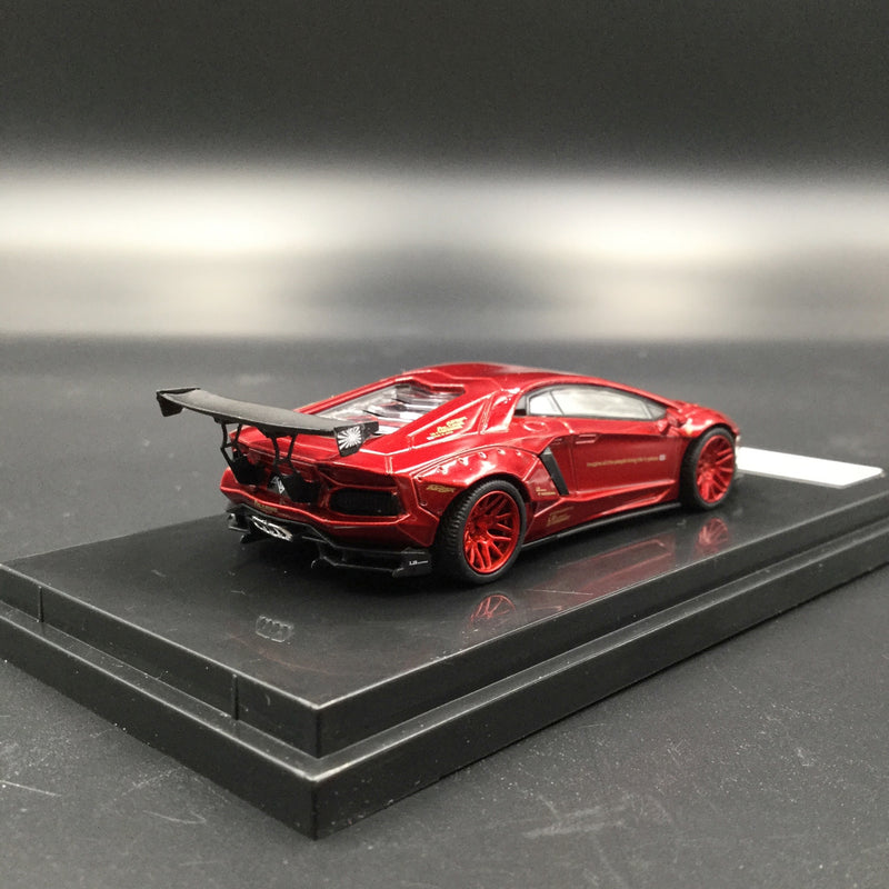 JEC 1:64 Liberty Walk Aventador (diecast metal)  Metallic Red   (J64-002-MR) available now