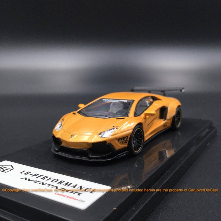 JEC 1:64 Liberty Walk Aventador (diecast metal)  Metallic yellow  (J64-002-MY) available now