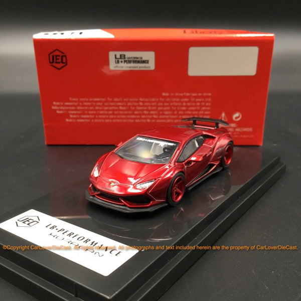 JEC 1:64 Liberty Walk Huracan (diecast metal)  Metallic Red (J64-003-MR) available Now