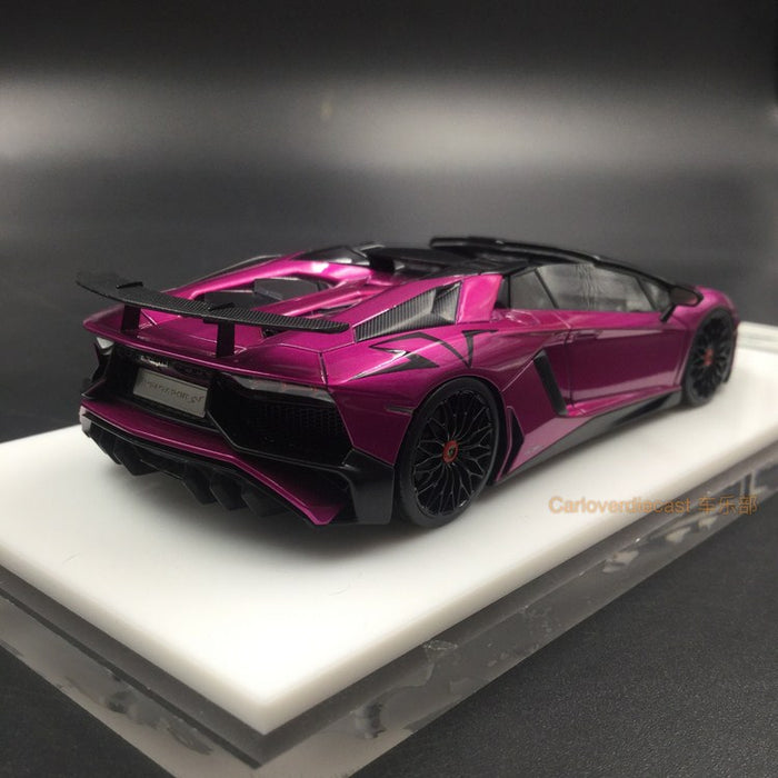 Makeup 1:43 Lamborghini Aventador LP750-4 SV Roadster 2015 Candy Purple  (EM359E) resin model