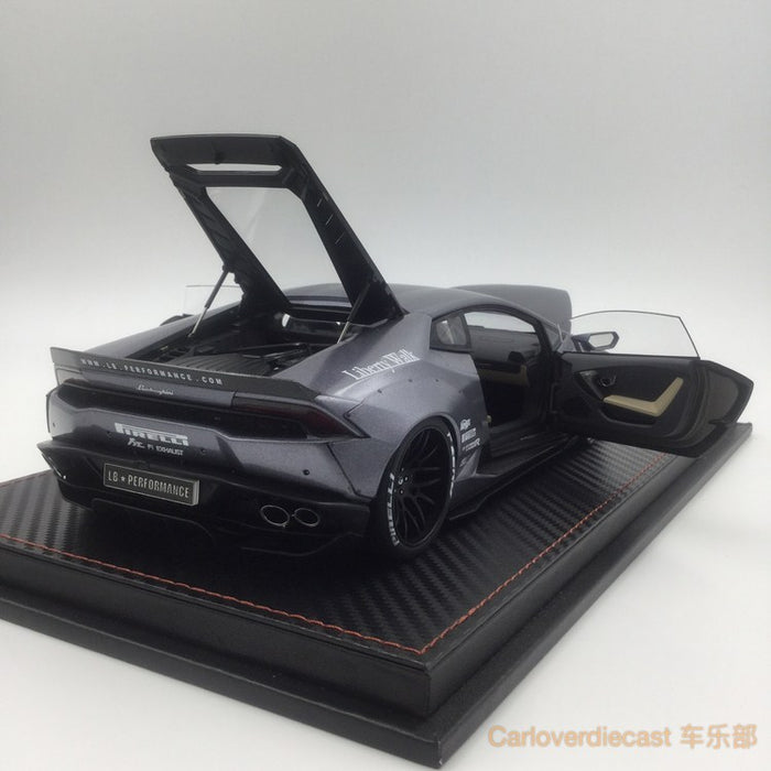 (ACM) Huracan LB Works Diecast Scale 1:18 (Iron Gray) Limited Edition 20pcs (custom made lead time 2 weeks)